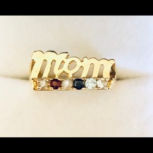 10K Gold Mother's Ring